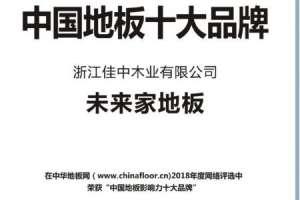 未来家地板荣获中国地板十大品牌铅封